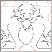 INVENTORY REDUCTION -- Rocky Mountain quilting pantograph pattern by Melonie J. Caldwell
