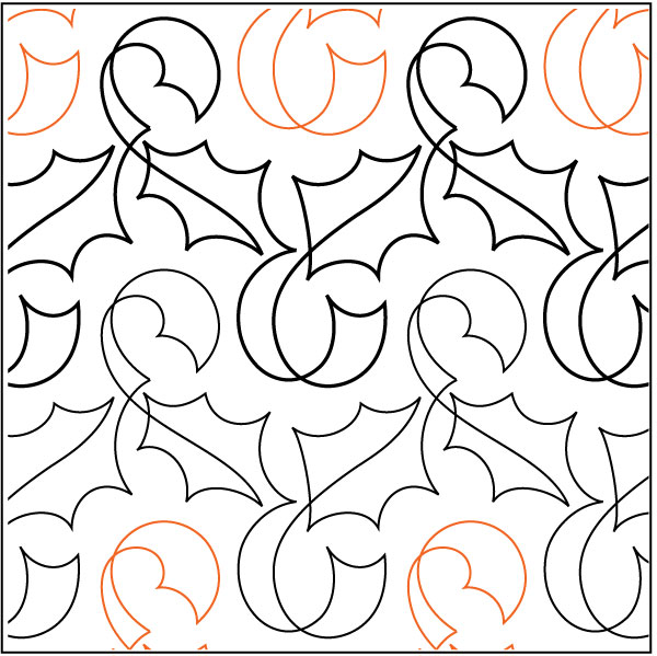 Holly-Ribbon-quilting-pantograph-pattern-Patricia-Ritter-Nancy-Read