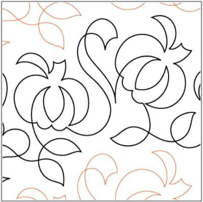 Fall Reward quilting pantograph sewing pattern by Nancy Read