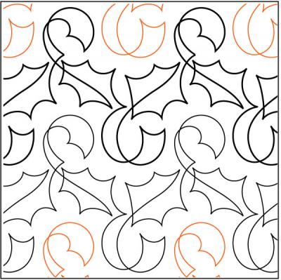 Holly Ribbon quilting pantograph pattern by Nancy Read