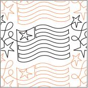 Freedom quilting pantograph pattern by Nancy Read