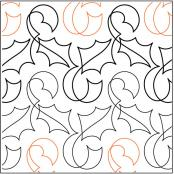 INVENTORY REDUCTION...Holly Ribbon quilting pantograph pattern by Nancy Read