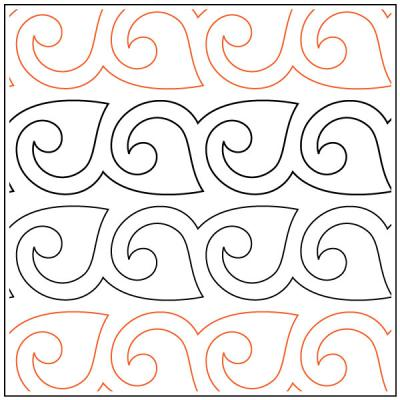 INVENTORY REDUCTION...Naomi's Fanfare Sashing quilting pantograph sewing pattern from Naomi Hynes