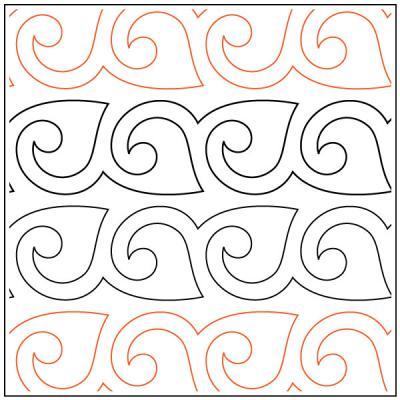 Naomi's Fanfare Sashing quilting pantograph sewing pattern from Naomi Hynes
