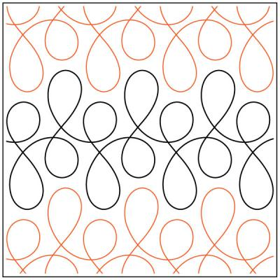 INVENTORY REDUCTION...Going Loopy quilting pantograph sewing pattern from Naomi Hynes