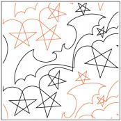 Bats and Stars quilting pantograph sewing pattern from Naomi Hynes