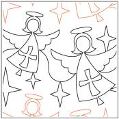 Blessed-Angels-quilting-pantograph-pattern-Naomi-Hynes