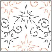Glimmering Stars quilting pantograph sewing pattern from Naomi Hynes