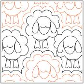 INVENTORY REDUCTION...Sleepy Ewes quilting pantograph sewing pattern from Naomi Hynes