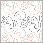 INVENTORY REDUCTION...Curl and Swirl quilting pantograph sewing pattern from Naomi Hynes
