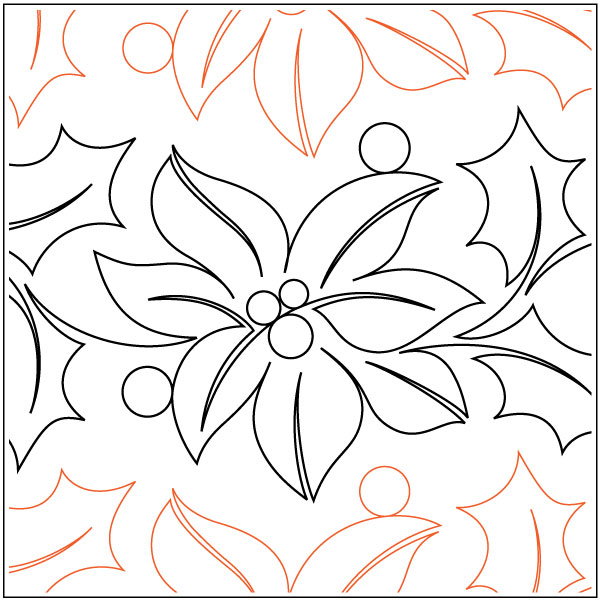 Feliz-Navidad-Petite-quilting-pantograph-pattern-Natalie-Gorman-1
