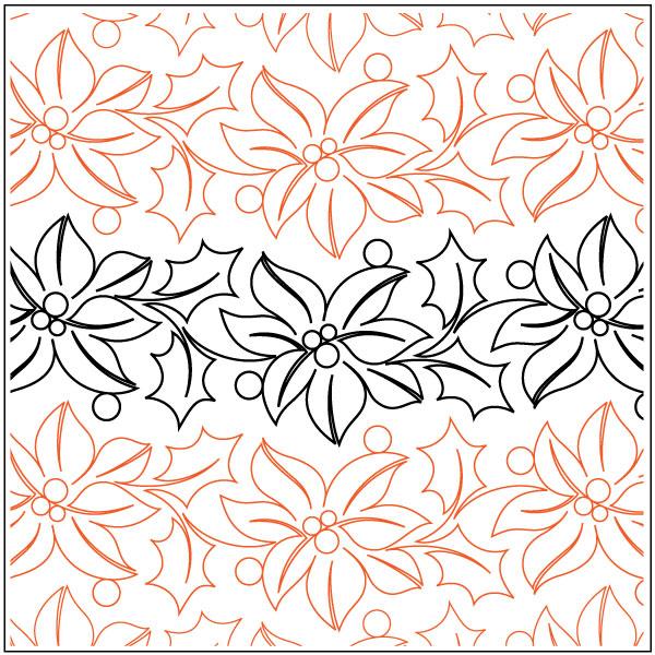 Feliz-Navidad-Petite-quilting-pantograph-pattern-Natalie-Gorman-2
