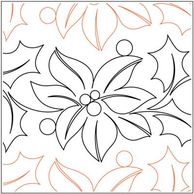 Feliz Navidad Petite quilting pantograph pattern by Patricia Ritter and Natalie Gorman