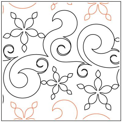 Fresh Snow quilting pantograph pattern by Patricia Ritter and Natalie Gorman