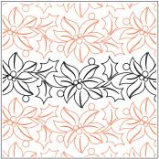 Feliz Navidad Petite quilting pantograph pattern by Patricia Ritter and Natalie Gorman 1