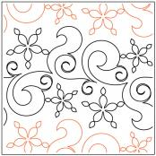 Fresh Snow quilting pantograph pattern by Patricia Ritter and Natalie Gorman 1