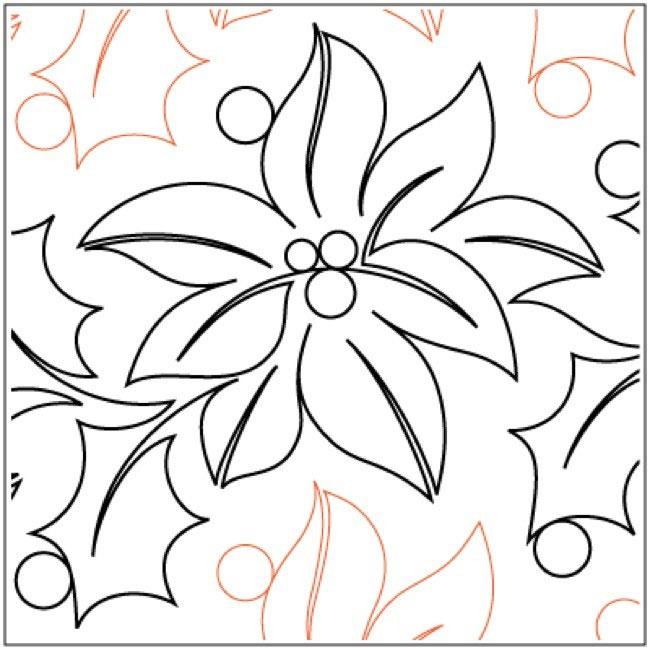 Feliz-Navidad-quilting-pantograph-pattern-Natalie-Gorman