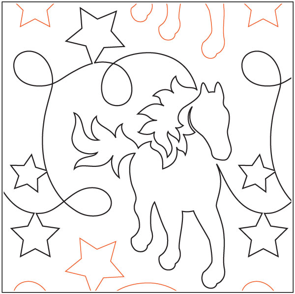 Giddy-Up-quilting-pantograph-pattern-Natalie-Gorman-1