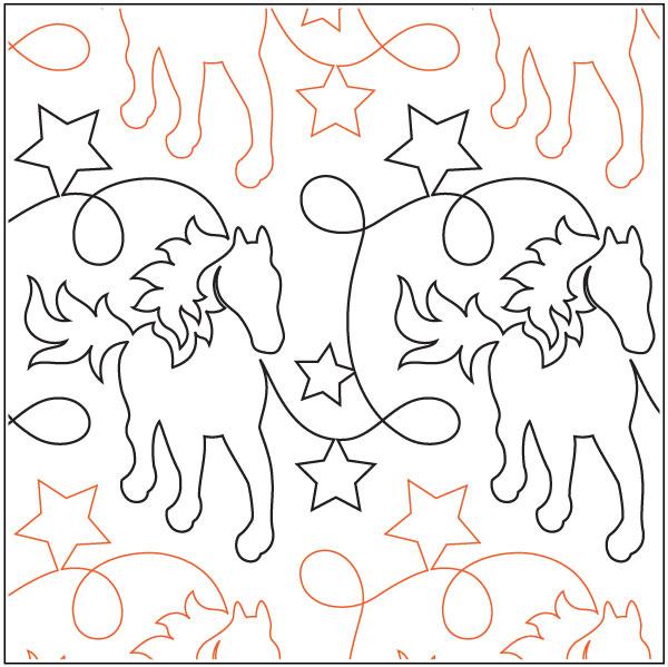 Giddy-Up-quilting-pantograph-pattern-Natalie-Gorman-2