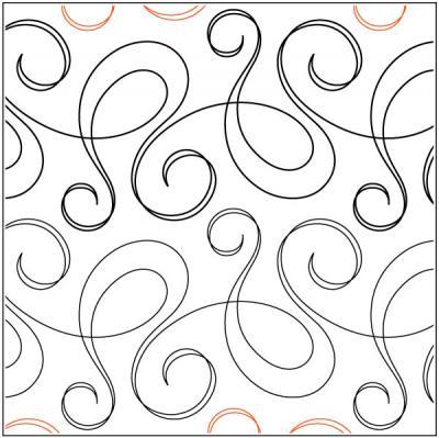 Bossa Nova quilting pantograph pattern by Natalie Gorman