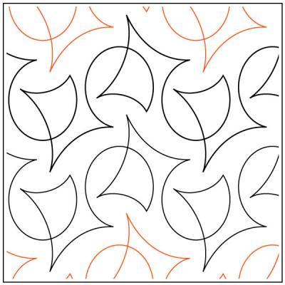 Calder quilting pantograph pattern by Natalie Gorman