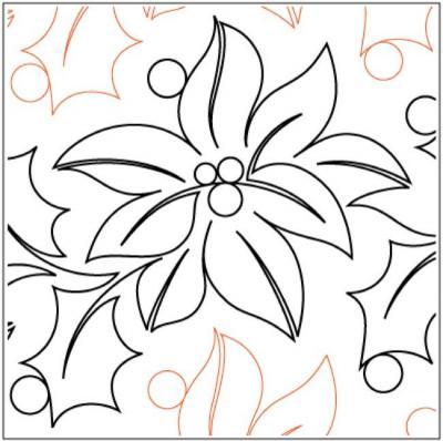 Feliz Navidad quilting pantograph pattern by Natalie Gorman