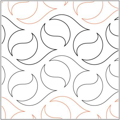 INVENTORY REDUCTION...Oasis quilting pantograph pattern by Natalie Gorman