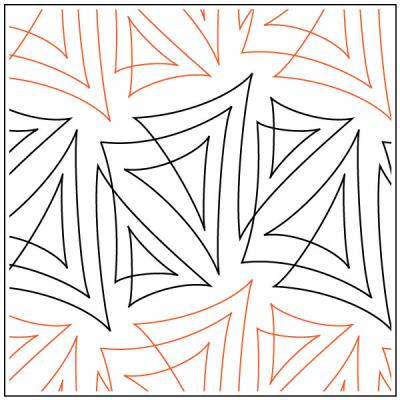 Papyrus quilting pantograph pattern by Patricia Ritter & Natalie Gorman