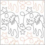 Giddy Up quilting pantograph pattern by Natalie Gorman 2