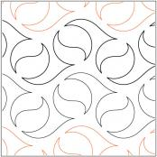 Oasis quilting pantograph pattern by Natalie Gorman