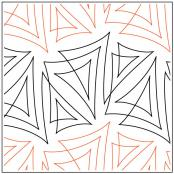 INVENTORY REDUCTION...Papyrus quilting pantograph pattern by Patricia Ritter & Natalie Gorman