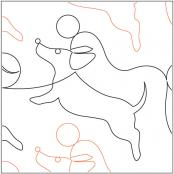 Puppy-Play-quilting-pantograph-pattern-Natalie-Gorman-1