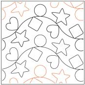Sorting Blocks Pink quilting pantograph sewing pattern by Natalie Gorman