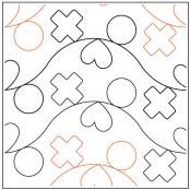Sorting Blocks-X's and O's quilting pantograph sewing pattern by Natalie Gorman