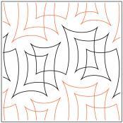 Parchment quilting pantograph pattern by Natalie Gorman