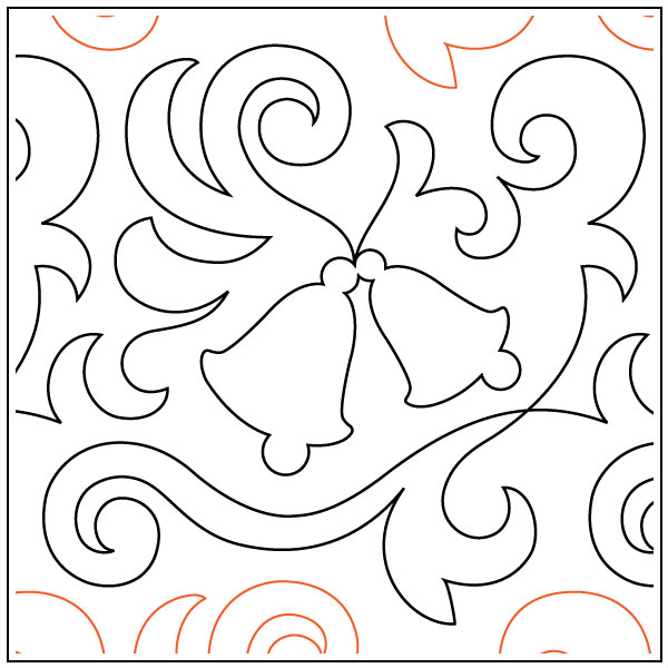 Winter-Bells-quilting-pantograph-sewing-pattern-OESD-1