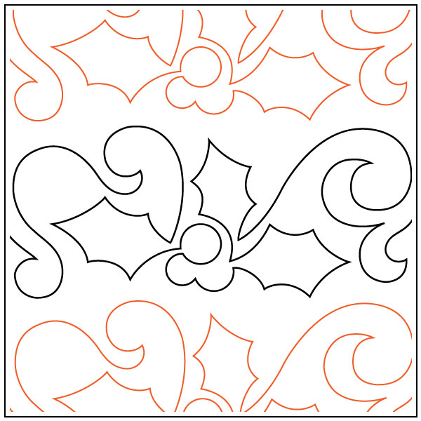 Winter-Holly-Petite-quilting-pantograph-sewing-pattern-OESD-1