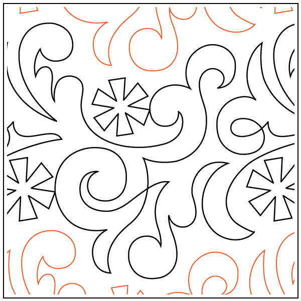 Winter-Snow-quilting-pantograph-sewing-pattern-OESD