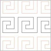 Celtic Square quilting pantograph pattern by Quilting Creations