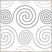 Spirals-Large-and-Small-quilting-pantograph-pattern-R-and-S-Designs