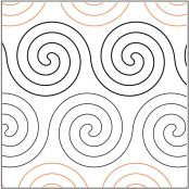 Spirals-quilting-pantograph-pattern-R-and-S-Designs