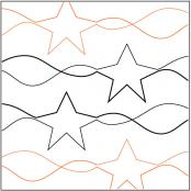 Stars-and-Stripes-quilting-pantograph-pattern-R-and-S-Designs
