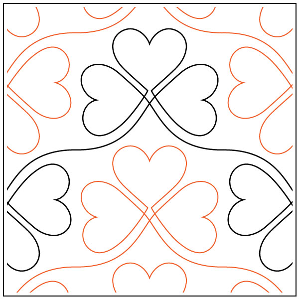 Lucky-In-Love-quilting-pantograph-sewing-pattern-sarah-ann-myers-1