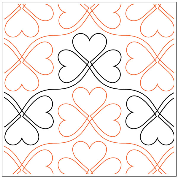 Lucky-In-Love-quilting-pantograph-sewing-pattern-sarah-ann-myers-2