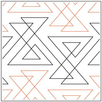 INVENTORY REDUCTION...Zing quilting pantograph pattern by Sarah Ann Myers