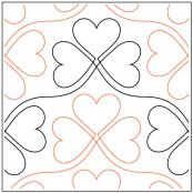 Lucky In Love quilting pantograph pattern by Sarah Ann Myers