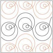 Orbit quilting pantograph pattern by Sarah Ann Myers