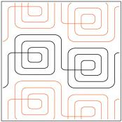Square Root quilting pantograph pattern by Sarah Ann Myers