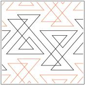 Zing quilting pantograph pattern by Sarah Ann Myers