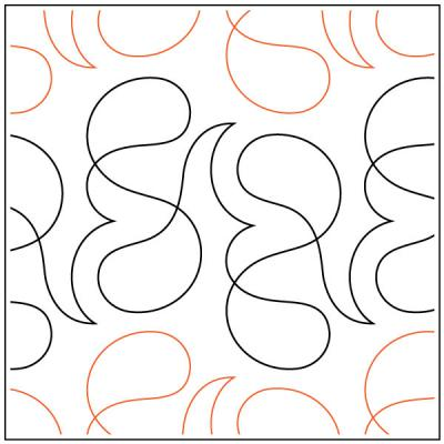 INVENTORY REDUCTION...Cast On quilting pantograph pattern by Sarah Ann Myers